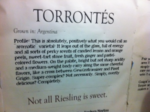 Sign about my favorite varietal on a store at Chelsea market.