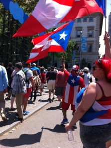 After brunch, we encountered the Puerto Rican pride parade.  What fun!