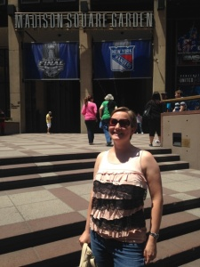 A took my picture in front of Madison Square Garden, right before we ate our weight in cheese at Eataly.